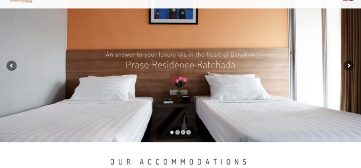 Praso Residence Website Development
