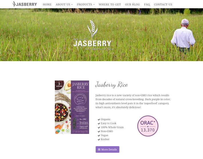 Jasberry Product Page